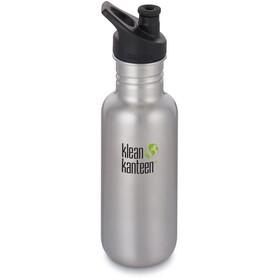Klean Kanteen Classic Drikkeflaske Sport Cap 532ml, brushed stainless